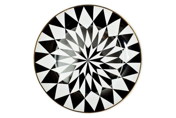Десертная тарелка черно-белого цвета