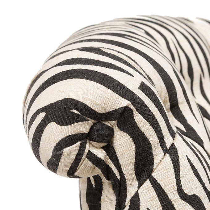 Кресло Amelie French с рисунком шкуры зебры