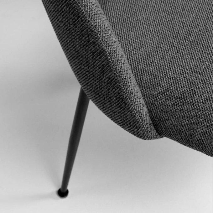 Мягкий стул Mahalia dark grey темно-серого цвета