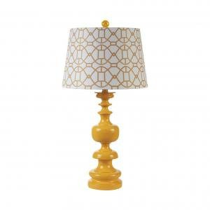 Светильник Resin table lamp with shade, yellow