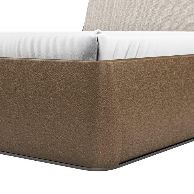Кровать Гесиона 180х200 серо-коричневого цвета с подъемным механизмом
