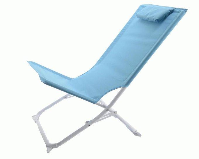 Садовый стул-шезлонг (голубой)