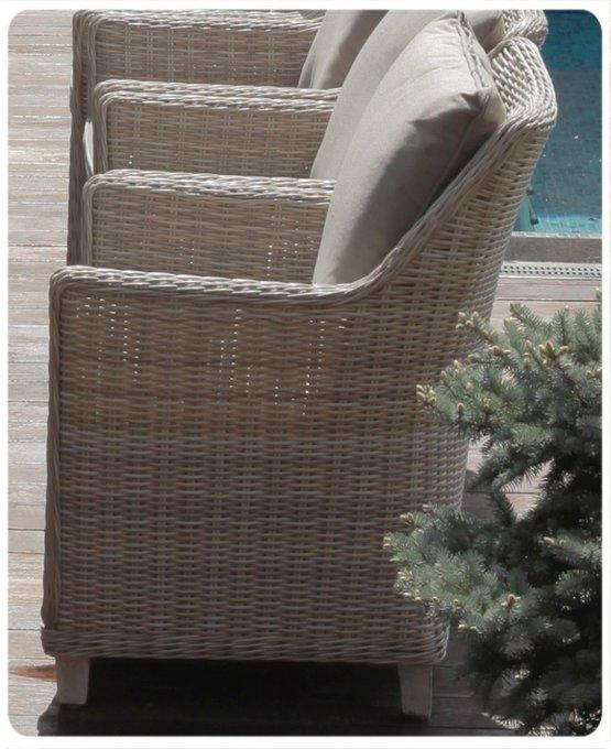 """Кресло из искусственного ротанга """"ТОСКАНА"""" в комплекте с подушками"""