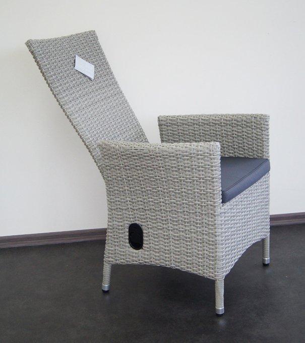Кресло-реклайнер Capri серого цвета