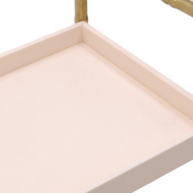 Стол-поднос бежево-золотого цвета