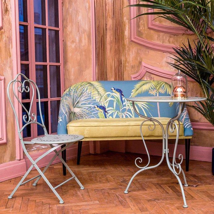 Складной стул Жарден мятный антик