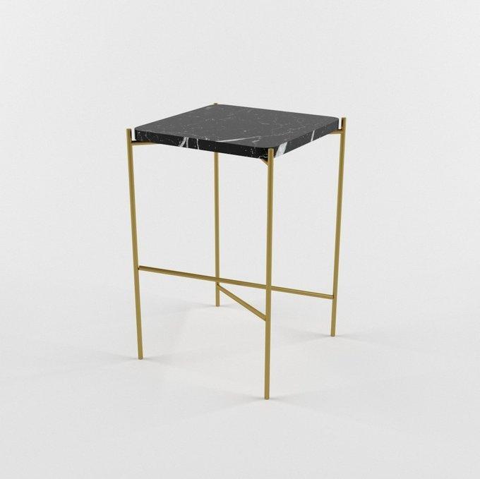 Журнальный столик с мраморной столешницей DIA gold