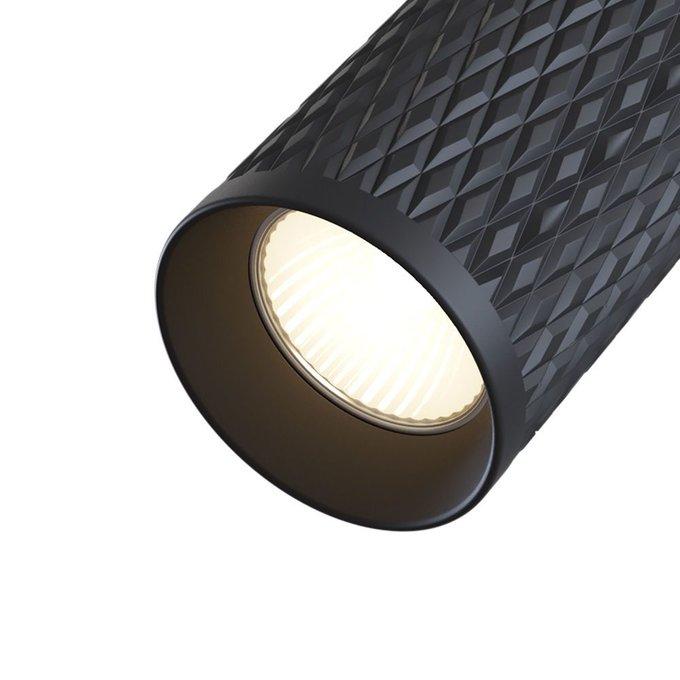Потолочный светильник Alfa из алюминия черного цвета