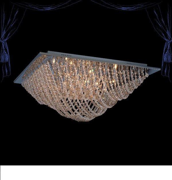 Потолочный светильник с пультом ДУ Eurosvet Angelina  хром/тонированный хрусталь