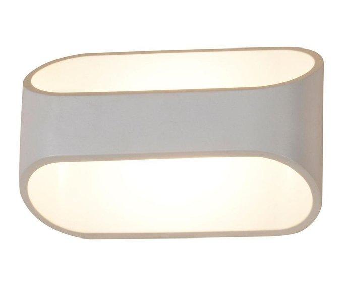 Настенный светодиодный светильник Ось белого цвета
