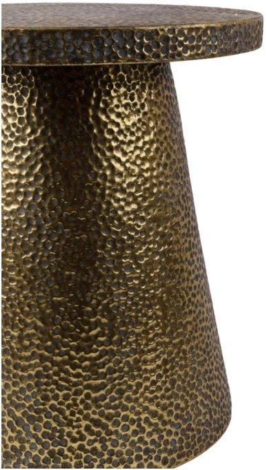 Журнальный столик из металла с напылением золотого цвета