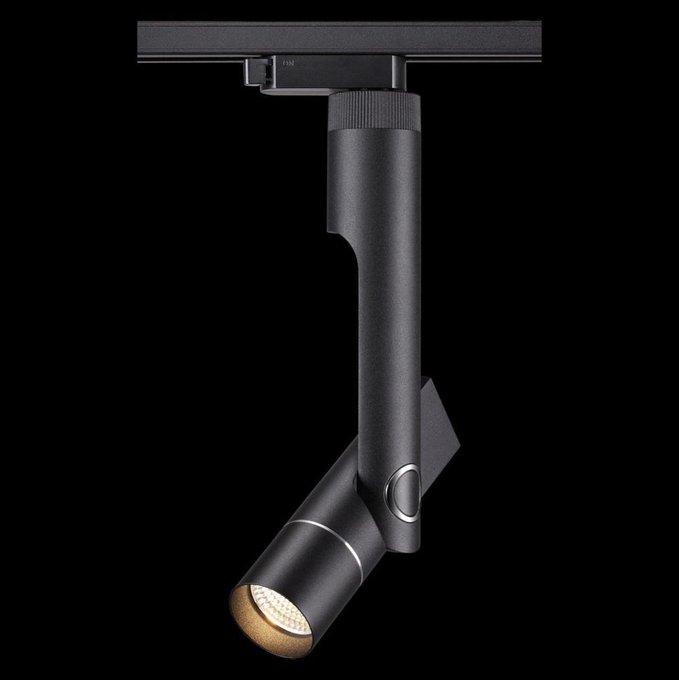 Трековый светодиодный светильник Lepide черного цвета