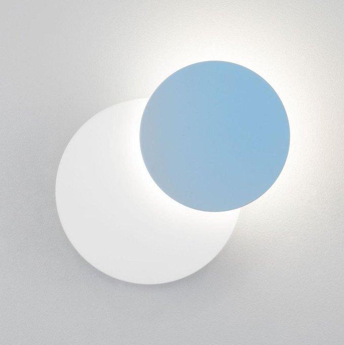 Настенный светодиодный светильник Figure бело-голубого цвета