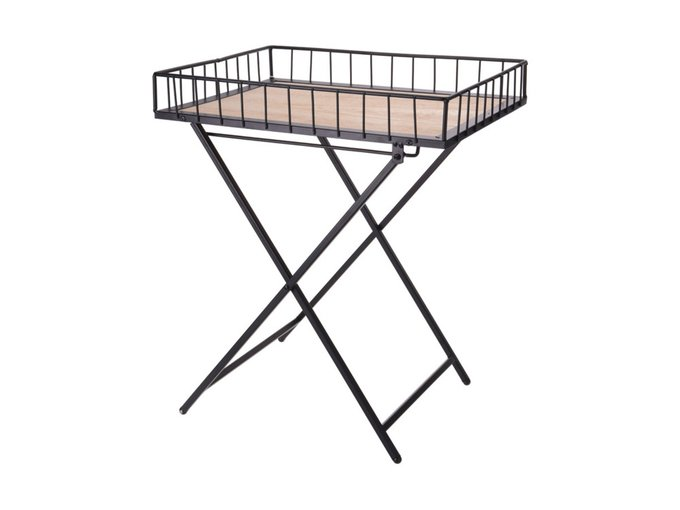Столик складной Loft style на металлическом основании