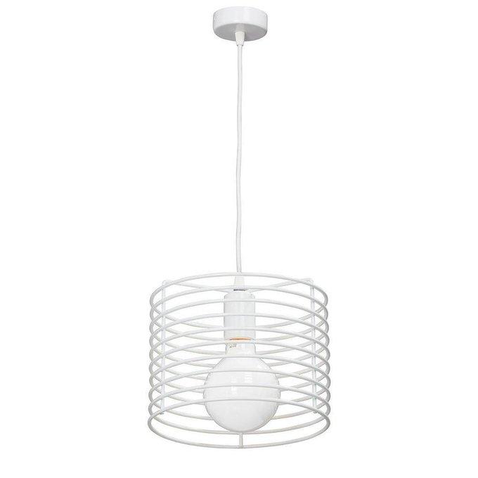 Подвесной светильник с плафоном из металла белого цвета
