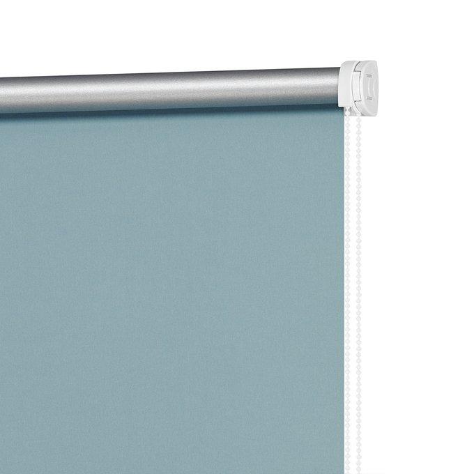 Штора рулонная Блэкаут Плайн пастельно-бирюзового цвета 160x175