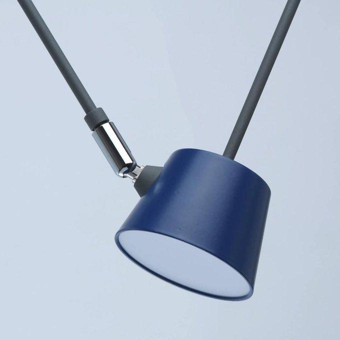 Подвесной светодиодный светильник Хартвиг серого цвета