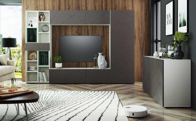 Тумба под телевизор Селеста цвета софт графит