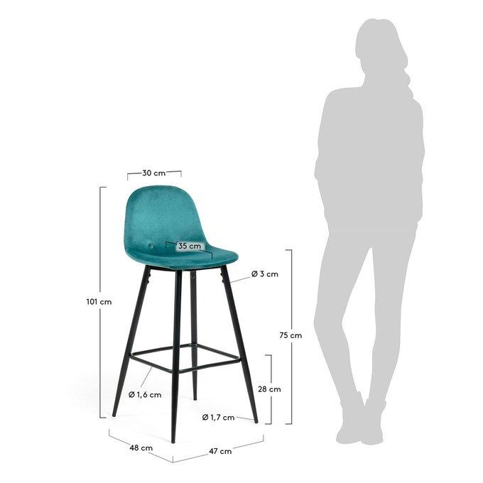 Барный стул Nilson сине-зеленого цвета