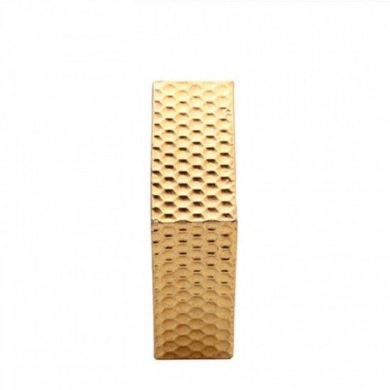 Набор из трех настенных зеркал Hexagon Gold
