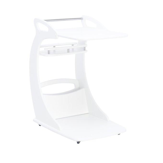 Подкатной столик Фаворит на колесиках  молочный дуб