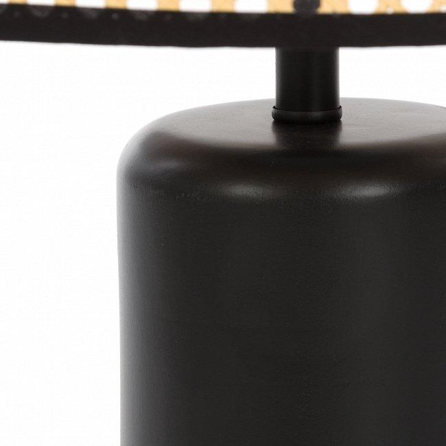 Настольный светильник Grid с абажуром из ротанга