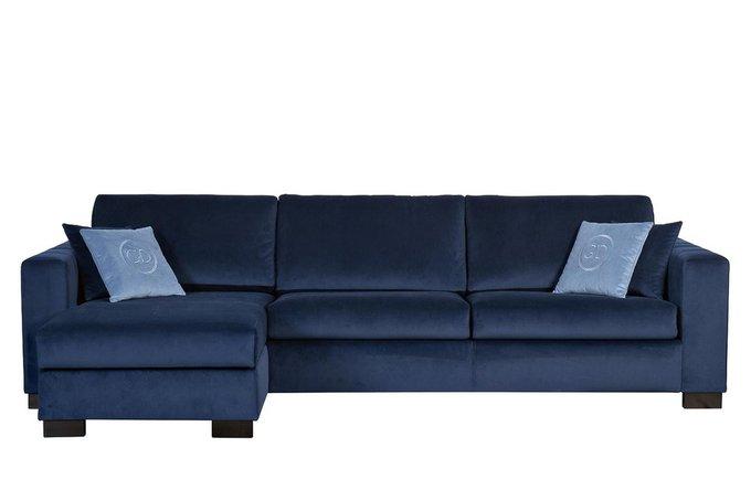 Угловой диван-кровать Ralph темно-синего цвета