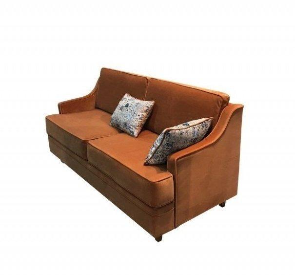 Диван-кровать Видия коричневого цвета