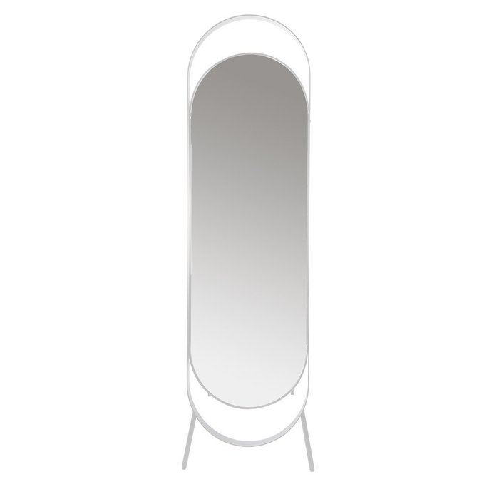 Зеркало напольное Вилла в белой раме