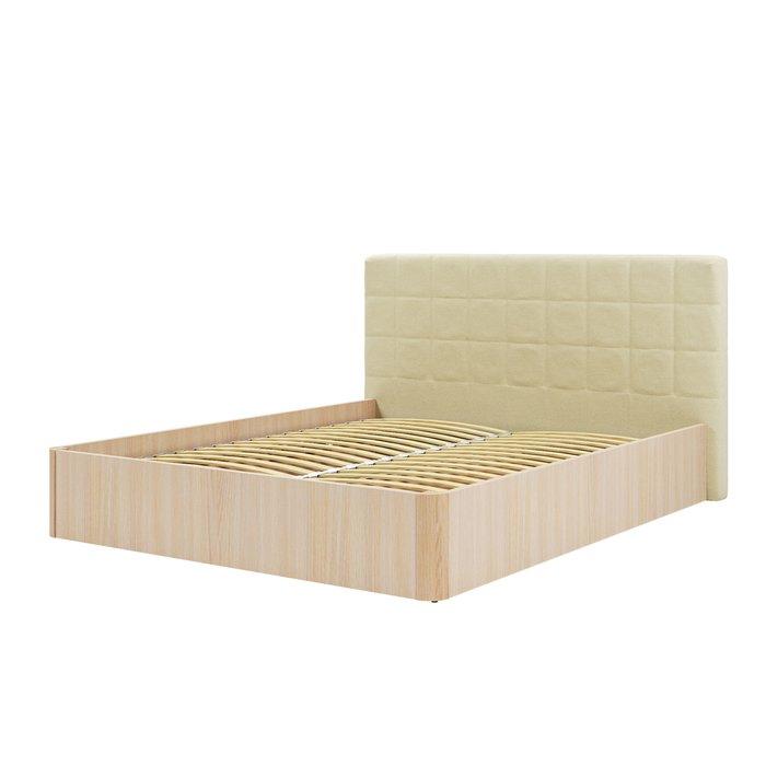 Кровать Магна 180х600 бежевого цвета с подъемным механизмом