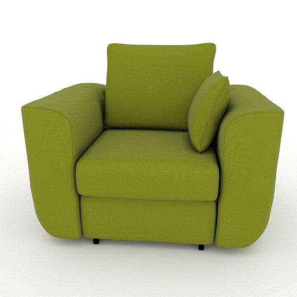 Кресло-кровать Stamford зеленого цвета