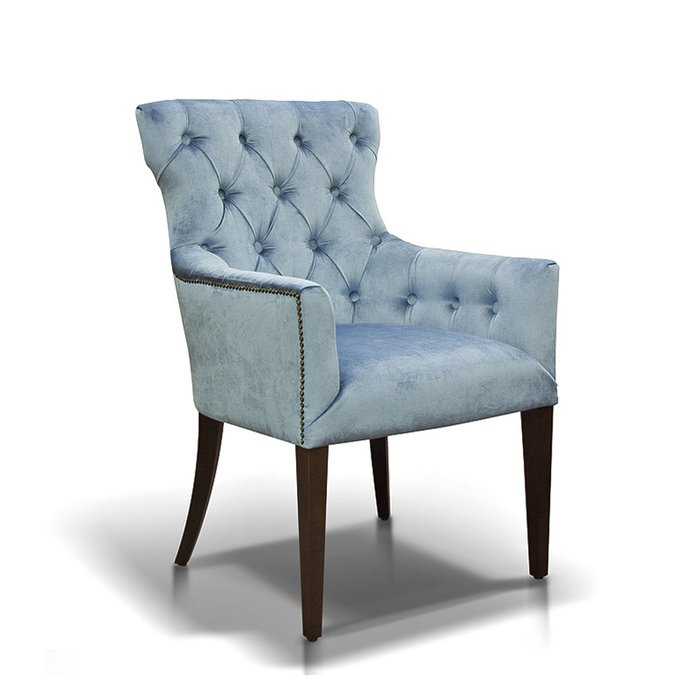 "Кресло ""Byron"" голубого цвета"