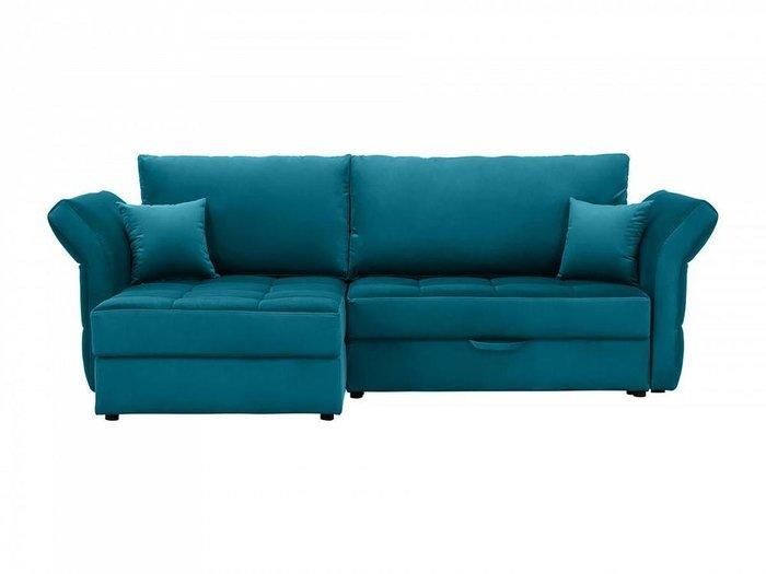 Угловой диван-кровать Wing синего цвета