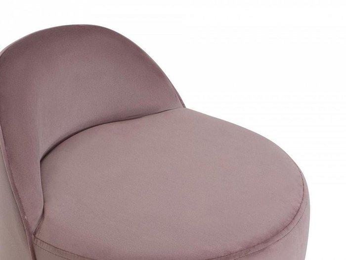 Пуф Axel серо-розового цвета