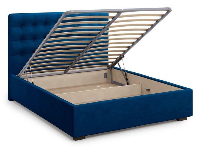 Кровать с подъемным механизмом Brayers 180х200 синего цвета
