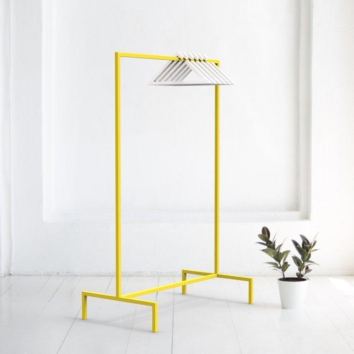 Вешалка напольная Metalframe в желтом цвете