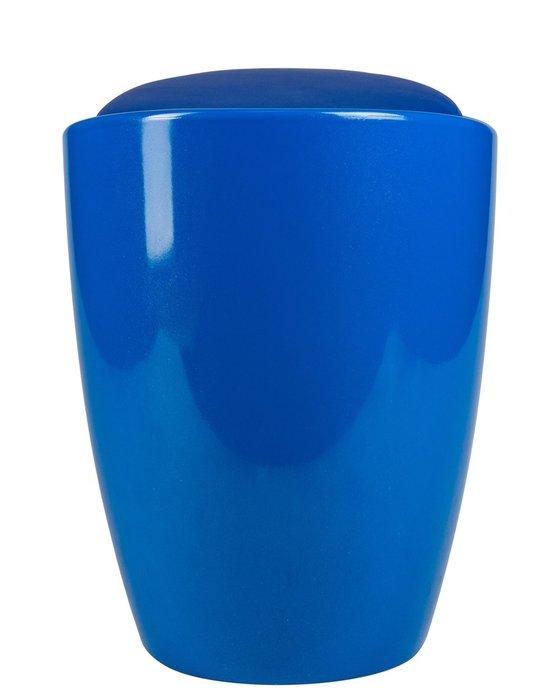 Табурет с местом для хранения голубого цвета