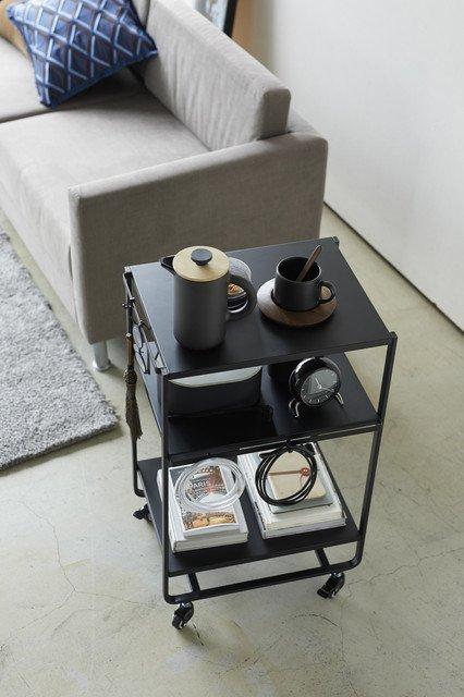 Сервировочный столик Tower черного цвета