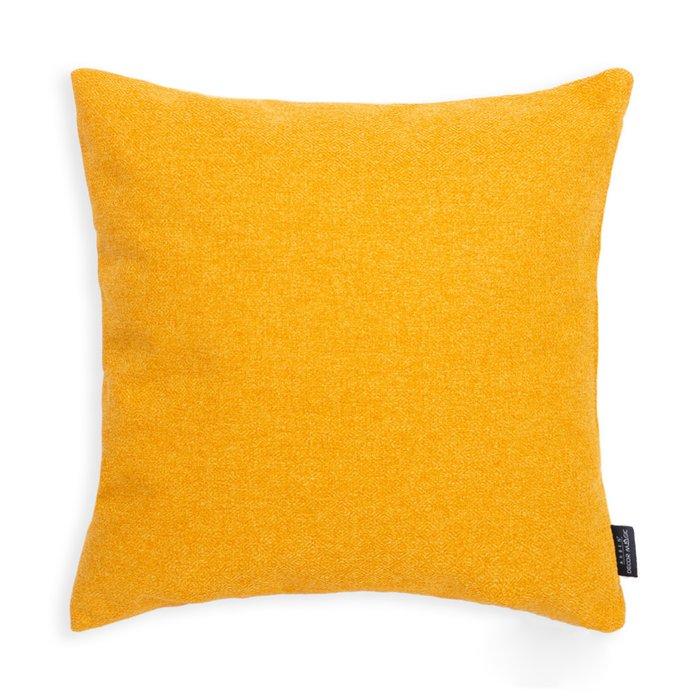 Декоративная подушка Bjork Mustard желтого цвета