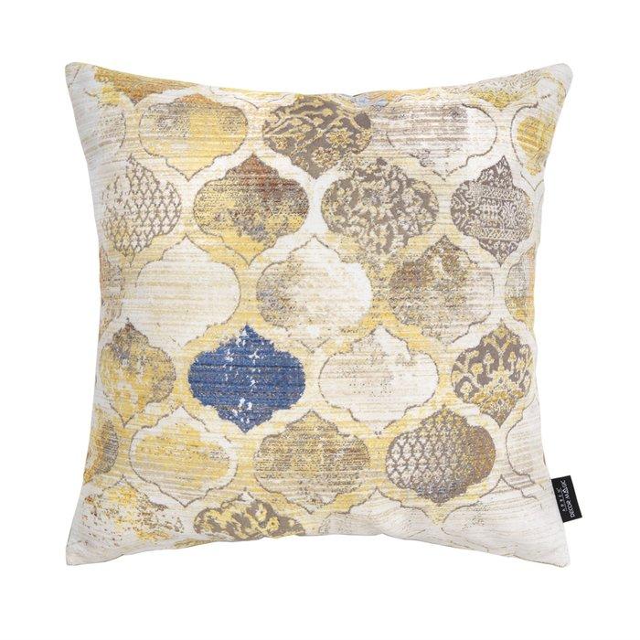 Декоративная подушка Aura 45х45 желто-бежевого цвета