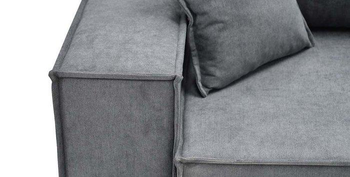 Угловой диван-кровать Фабио серого цвета