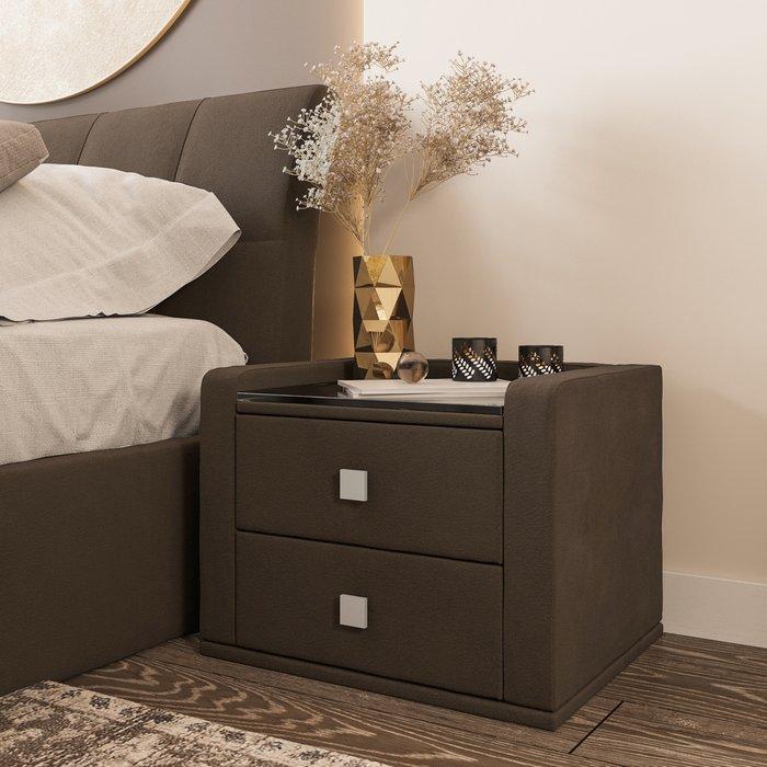 Тумба прикроватная темно-коричневого цвета