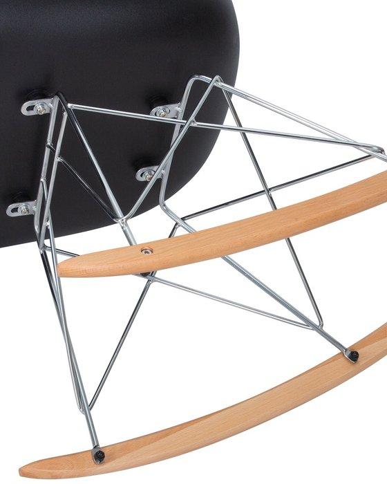 Кресло-качалка Rock черного цвета