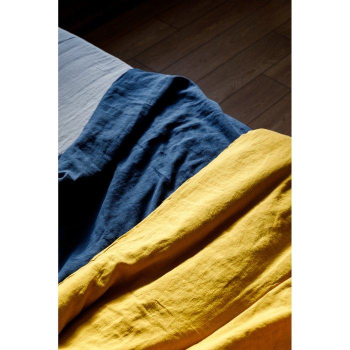 Пододеяльник изо льна темно-синего цвета 200х200