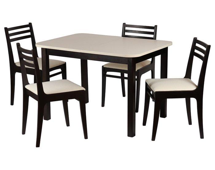 Раскладной обеденный стол Франц бежево-коричневого цвета