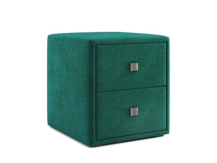 Тумбочка Агат зеленого цвета