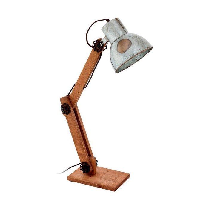 Настольная лампа Frizington с серым плафоном