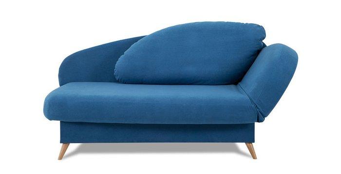 Кушетка-кровать Валетта синего цвета