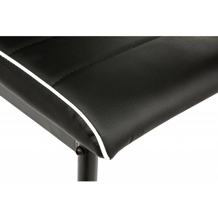 Обеденный стул черного цвета с белой окантовкой