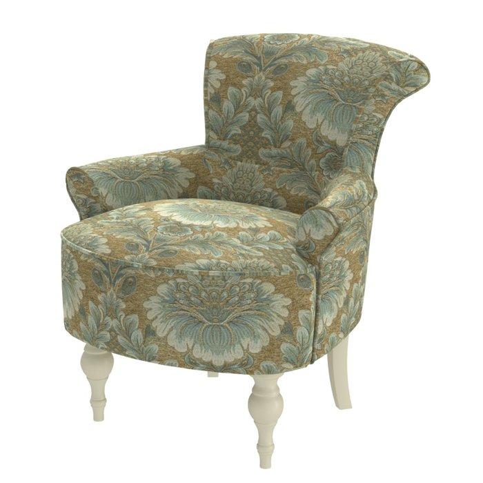 Кресло Azalea бежево-зеленого цвета